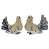Offord & Sons | Saturno silver enamel white doves