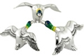 Offord & Sons | Saturno silver enamelled Flying Ducks