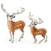 Offord & Sons | Saturno Silver enamelled Fallow Deer Stags