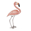 Offord & Sons | Saturno Silver Enamelled Large Flamingo Bird