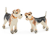 Offord & Sons | Saturno Silver Enamelled Fox Terrier Dogs