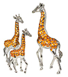Offord & Sons | Saturno enamelled Giraffes