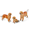 Offord & Sons | Saturno Silver Enamelled Golden Retriever Dogs