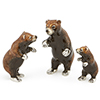 Offord & Sons | Saturno Silver Enamelled Grizzly Bears