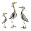 Offord & Sons | Saturno Silver Enamelled Herons
