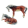 Offord & Sons | Saturno silver enamelled Horse and Foal