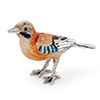 Offord & Sons | Saturno Silver enamelled Jay bird ST723