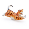 Offord & Sons | Saturno Silver Enamelled Cat / Kitten