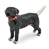 Offord & Sons | Saturno Silver Enamelled Labrador Dog