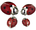 Offord & Sons | Saturno enamelled Ladybirds