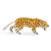 Offord & Sons | Saturno Silver Enamelled Leopard