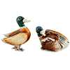 Offord & Sons | Saturno Silver Enamelled Mallard Ducks