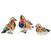 Offord & Sons | Saturno Silver Enamelled Mandarin Ducks