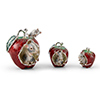 Offord & Sons | Saturno Silver Enamelled Mice eating an apple