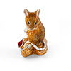 Offord & Sons | Saturno Silver Enamelled Mouse with peanut