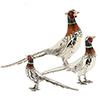 Offord & Sons | Saturno silver enamelled Pheasants