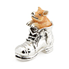 Offord & Sons | Saturno Silver Enamelled Pig in Boot