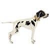 Offord & Sons | Saturno silver enamel Pointer Dog