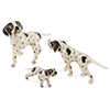 Offord & Sons | Saturno Silver Enamelled Pointer Dogs