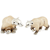 Offord & Sons | Saturno Silver Enamelled Polar Bears