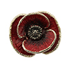 Offord & Sons | Saturno silver enamelled Poppy brooch
