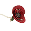 Offord & Sons | Saturno silver enamelled Poppy for the Poppy Appeal