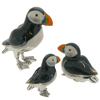 Offord & Sons | Saturno silver enamelled Puffins