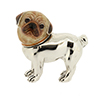 Offord & Sons | Saturno silver enamelled Pug dog