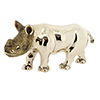 Offord & Sons | Saturno silver enamelled Baby Rhinocerous