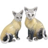 Offord & Sons | Saturno silver and enamelled Siamese cats