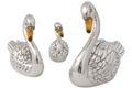 Offord & Sons   Saturno silver enamelled Swans