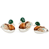 Offord & Sons | Saturno Silver Enamelled Swimming Ducks