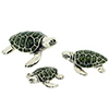Offord & Sons | Saturno silver enamelled Turtles | Terrapin