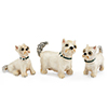Offord & Sons | Saturno Silver Enamelled Westie dog