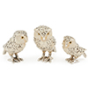 Offord & Sons | Saturno Silver Enamelled White Owls