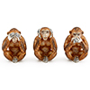 Offord & Sons | Saturno Silver Enamelled Wise Monkeys