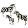 Offord & Sons | Saturno silver enamelled Zebra