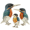 Offord & Sons | Saturno enamelled Kingfishers