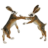 Saturno enamelled boxing Hares