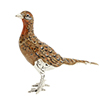Saturno sterling silver hen pheasant