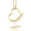 Offord & Sons | Bespoke Yellow Gold Open Heart Pendant Necklace