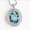 Offordandsons | Aquamarine & Diamond Pendant Necklace