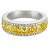 2.82ct fancy yellow and white diamond ring