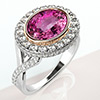 Offord & Sons | Bespoke Pink Sapphire and Diamond Cluster Ring