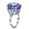 Offord & Sons | Platinum Bespoke 26.78ct Sapphire and Diamond Handmade Ring