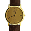 Offord & Sons |18ct gold Omega DeVille gents quartz watch