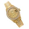 Offord & Sons | Ladies 18ct gold Diamond set Rolex Oyster Perpetual Datejust watch model 69138